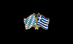 Freundschaftspin Bayern - Griechenland - 22 mm