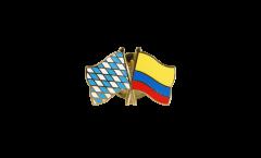 Freundschaftspin Bayern - Kolumbien - 22 mm