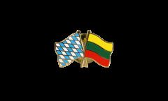 Freundschaftspin Bayern - Litauen - 22 mm