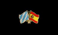 Freundschaftspin Bayern - Spanien - 22 mm
