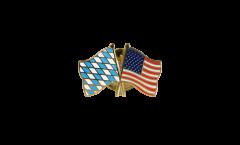 Freundschaftspin Bayern - USA - 22 mm
