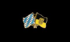 Freundschaftspin Bayern - Baden-Württemberg - 22 mm