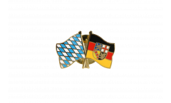 Freundschaftspin Bayern - Saarland - 22 mm