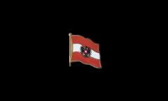 Flaggen-Pin Österreich mit Adler - 2 x 2 cm