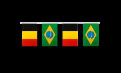 Freundschaftskette Belgien - Brasilien - 15 x 22 cm