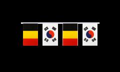 Freundschaftskette Belgien - Südkorea - 15 x 22 cm