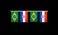 Freundschaftskette Brasilien - Kroatien - 15 x 22 cm