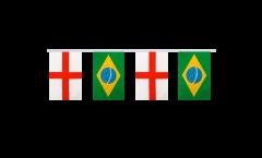 Freundschaftskette England - Brasilien - 15 x 22 cm