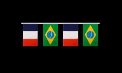Freundschaftskette Frankreich - Brasilien - 15 x 22 cm