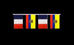 Freundschaftskette Frankreich - Ecuador - 15 x 22 cm
