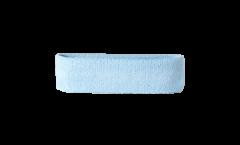 Stirnband einfarbig hellblau - 6 x 21 cm