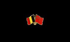 Freundschaftspin Belgien - China - 22 mm