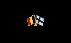 Freundschaftspin Belgien - Finnland - 22 mm