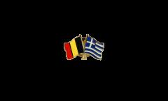 Freundschaftspin Belgien - Griechenland - 22 mm