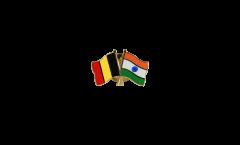 Freundschaftspin Belgien - Indien - 22 mm