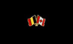 Freundschaftspin Belgien - Kanada - 22 mm