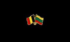 Freundschaftspin Belgien - Litauen - 22 mm