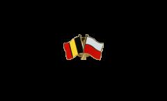 Freundschaftspin Belgien - Polen - 22 mm