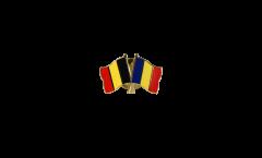 Freundschaftspin Belgien - Rumänien - 22 mm