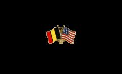 Freundschaftspin Belgien - USA - 22 mm
