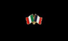 Freundschaftspin Italien - Frankreich - 22 mm