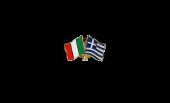 Freundschaftspin Italien - Griechenland - 22 mm