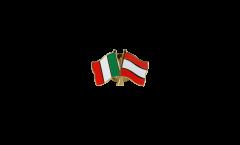 Freundschaftspin Italien - Lettland - 22 mm