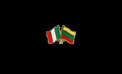 Freundschaftspin Italien - Litauen - 22 mm