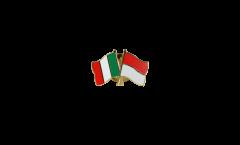 Freundschaftspin Italien - Monaco - 22 mm