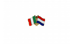 Freundschaftspin Italien - Niederlande - 22 mm