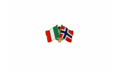 Freundschaftspin Italien - Norwegen - 22 mm