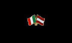 Freundschaftspin Italien - Österreich - 22 mm