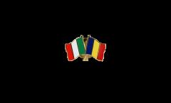 Freundschaftspin Italien - Rumänien - 22 mm