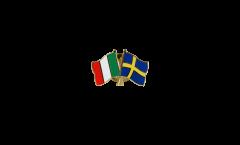 Freundschaftspin Italien - Schweden - 22 mm