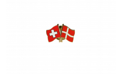 Freundschaftspin Schweiz - Dänemark - 22 mm