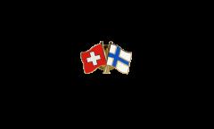 Freundschaftspin Schweiz - Finnland - 22 mm