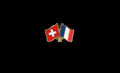Freundschaftspin Schweiz - Frankreich - 22 mm