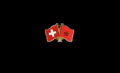 Freundschaftspin Schweiz - Hong Kong - 22 mm