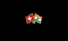 Freundschaftspin Schweiz - Indien - 22 mm
