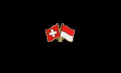 Freundschaftspin Schweiz - Indonesien - 22 mm