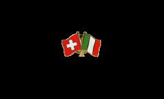 Freundschaftspin Schweiz - Italien - 22 mm