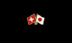 Freundschaftspin Schweiz - Japan - 22 mm