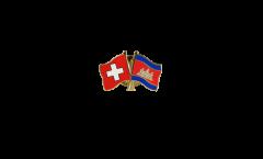 Freundschaftspin Schweiz - Kambodscha - 22 mm