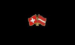 Freundschaftspin Schweiz - Lettland - 22 mm