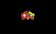 Freundschaftspin Schweiz - Myanmar - 22 mm
