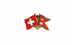 Freundschaftspin Schweiz - Nepal - 22 mm