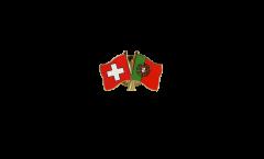 Freundschaftspin Schweiz - Portugal - 22 mm
