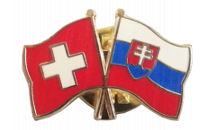 Freundschaftspin Schweiz - Slowakei - 22 mm
