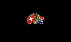 Freundschaftspin Schweiz - Südafrika - 22 mm