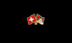 Freundschaftspin Schweiz - Tibet - 22 mm